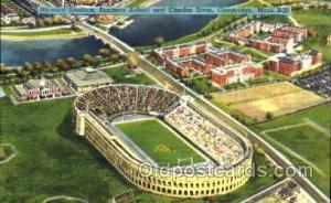 Harvard Stadium, Business School and Charles River, Cambridge, Mass. USA, Foo...