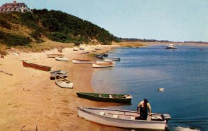 MA - Cape Cod. Boats along shoreline at Chatham