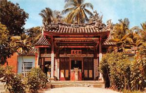 Malaysia Old Vintage Antique Post Card Snake Temple at Sungei Kluang Penang U...