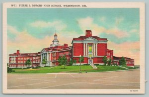 Wilmington Delaware~Pierre S DuPont High School~Vintage Postcard
