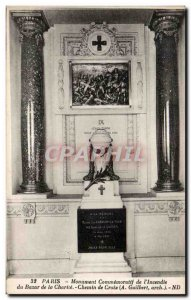 Old Postcard Paris I Commemorative Monument Fire Charity Bazaar of the Way of...