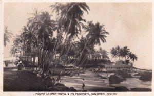 Mount Lavina Hotel Colombo Ceylon Real Photo Old Postcard