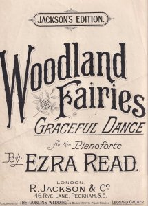 Woodland Fairies King Wedding 3x Antique Fairy Olde Folded Sheet Music