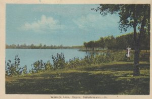 REGINA , Saskatchewan , Canada ,1930s ; Wascana Lake