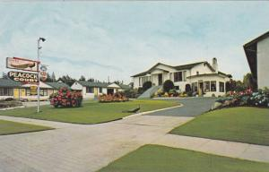 Exterior View, Flowers in Courtyard, Peacock Auto Court, Vancouver, British C...