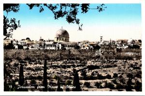 Israel Jerusalem Seen From Mount Of Olives