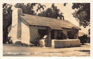 Real Photo Postcard Montague Cottage at Warner Hot Springs, California~118648