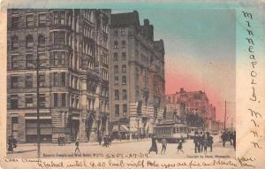 Minneapolis Minnesota Masonic Temple West Hotel Street Scene Postcard J76320