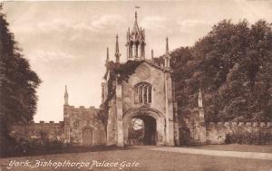 YORK YORKSHIRE UK BISHOPTHORPE PALACE GATE~FRITH SERIES #18499 POSTCARD