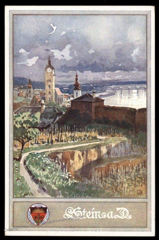 Austria Stein aD WWI German Unification DSV Patriotic Postcard UNUSED 98829