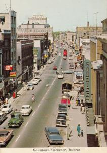 Downtown Kitchener Ontario Canadian Postcard