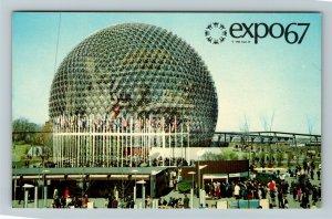 Montreal QC-Quebec Canada, Expo67, Le Pavilion Des Etats Unis Chrome Postcard