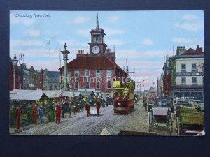 Durham STOCKTON ON TEES Town Hall & Market c1905 Postcard