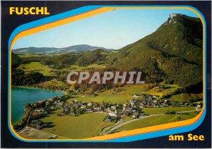 Modern Postcard Fuschl am See und der beliebte urlaubs Badeort in Nächster n...