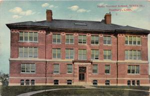 DANBURY CONNECTICUT STATE NORMAL SCHOOL ON WHITE STREET DANZIGAR POSTCARD 1912