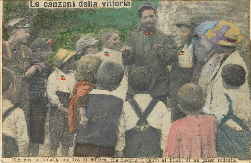 Italian army history soldier music teacher for children Victory
