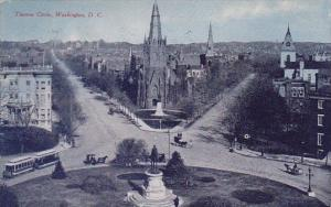 Thomas Circle Washington D C 1908