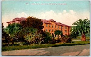 STANFORD UNIVERSITY California Postcard ROBLE HALL Campus View Mitchell 1925