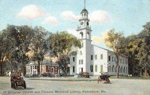 LP26   Kennebunk Maine Unitarian Church Parsons Memorial  Postcard
