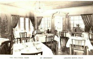 c1930's The Hollyhock Room Laguna Beach California CA RPPC Photo Postcard
