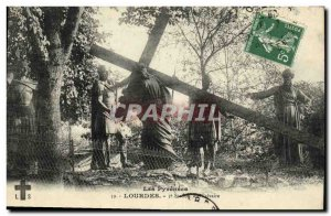 Old Postcard Lourdes 5th Station of the Calvary