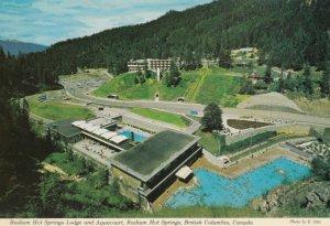 RADIUM HOT SPRINGS, British Columbia, Canada, 1950-60s;  Lodge and Aquacourt