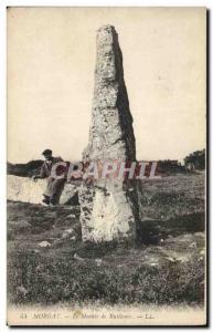 Old Postcard Dolmen Menhir The menhir Morgat Ruillanec