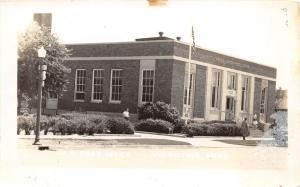 Valentine Nebraska~US Post Office~People on Steps-Sidewalk~1950s RPPC