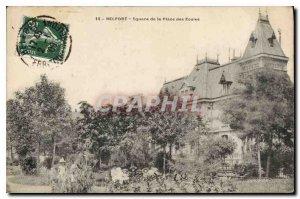 Old Postcard Belfort Square Place des Ecoles