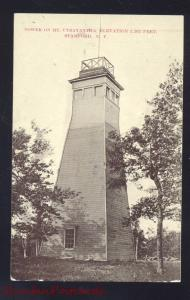 STAMFORD NEW YORK TOWER ON MT. UTSAYANTHA ANTIQUE VINTAGE POSTCARD NY