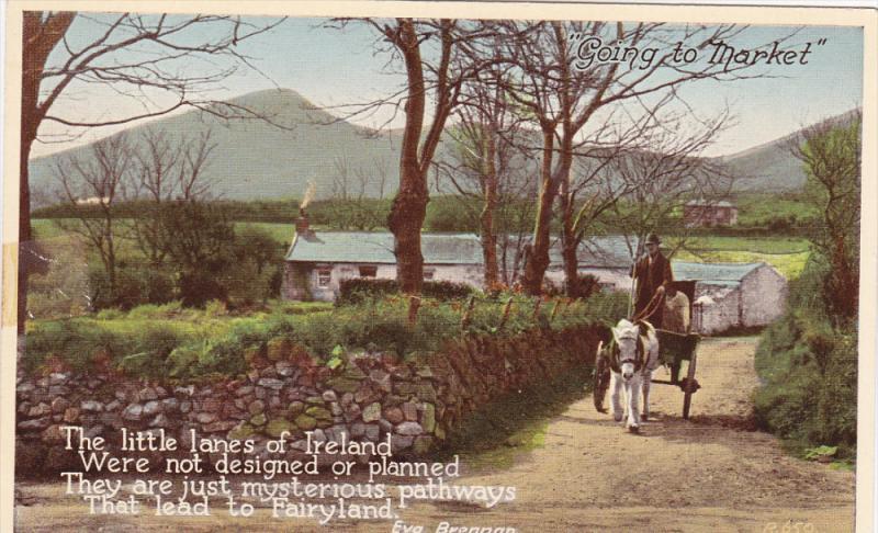 The Little Lanes Of Ireland by Eva Brennan, Horse Cart, IRELAND, 1910-1920s
