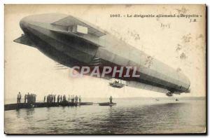 Old Postcard Jet Aviation Zeppelin Airship