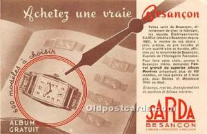 Advertising Postcard - Old Vintage Antique Sarda Besancon Unused