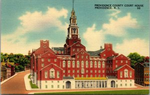 Providence County Court House, Providence, RI ~ Linen Postcard c1944