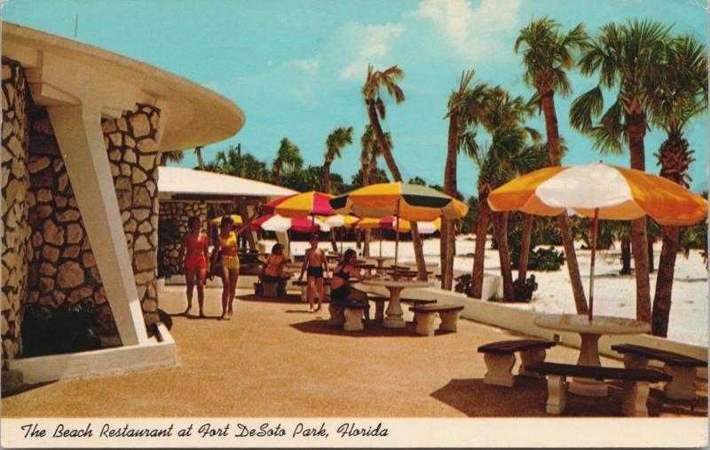 The Beach Restaurant Fort DeSoto Park Florida FL c1968 Postcard D36