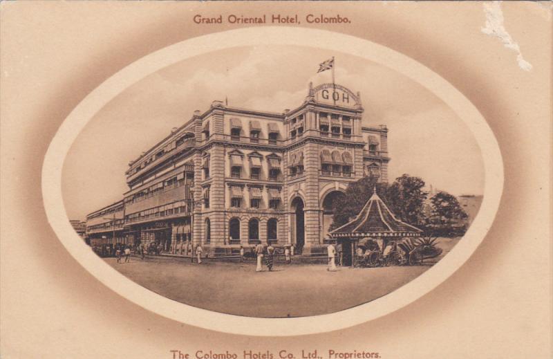 COLOMBO, Ceylon, Sri Lanka, 1900-1910's; Grand Oriental Hotel