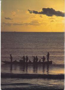 Fishermen at Bahari beach , Dar es Salaam - Tanzania , PU-1985