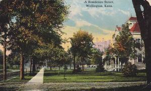 A Residence Street, Wellington, Kansas, PU-1914