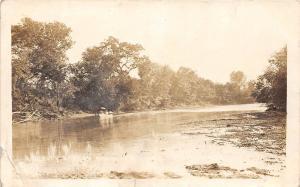 Kansas Ks Real Photo RPPC Postcard 1913 AKIN Arkansas River Beauty Spot