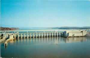 Chattanooga TN~Chickamauga Dam~1960 Postcard