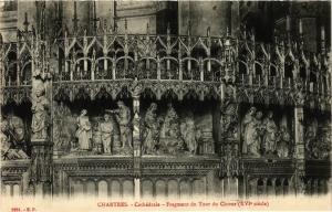 CPA CHARTRES - Cathédrale - Fragment du Tour du Choeur (385270)