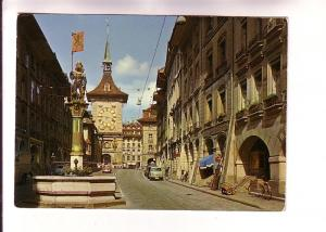 Clock Tower, Cars, Bicycle, Berne, Germany