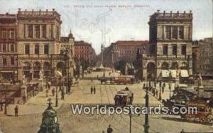 Berlin Germany, Deutschland Postcard Belle Alliance Place  Belle Alliance Place