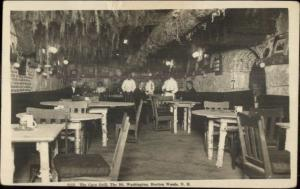Bretton Woods White Mtns NH Cave Grill c1915 Real Photo Postcard
