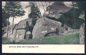 Devil's Den Battle Site Gettysburg PA unused c1905