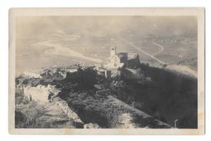 Assisi Italy Birds Eye View Basilica di S. Francesco Church Vtg Postcard