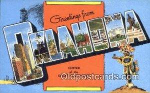 Oklahoma USA Large Letter Town Unused