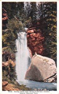 Baring Falls Glacier National Park Unused