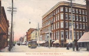 ELMIRA NEW YORK EAST WATER ST~RATHBUN HOTEL~DEMOLISHED IN 1940s POSTCARD 1908 PM