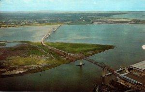 South Carolina Charleston Cooper River Bridge 1966